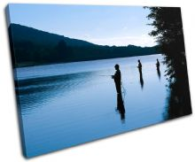 Fishing Lake Blue Sunset Seascape - 13-0135(00B)-SG32-LO